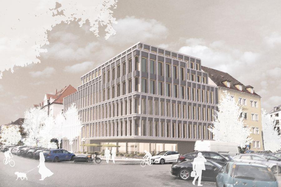 Entwurf Wettbewerb Neubau Bürogebäude