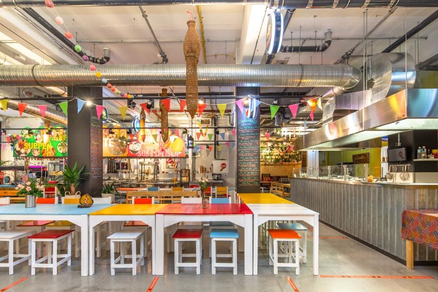 Entwurf Thailändisches Streetfood-Restaurant