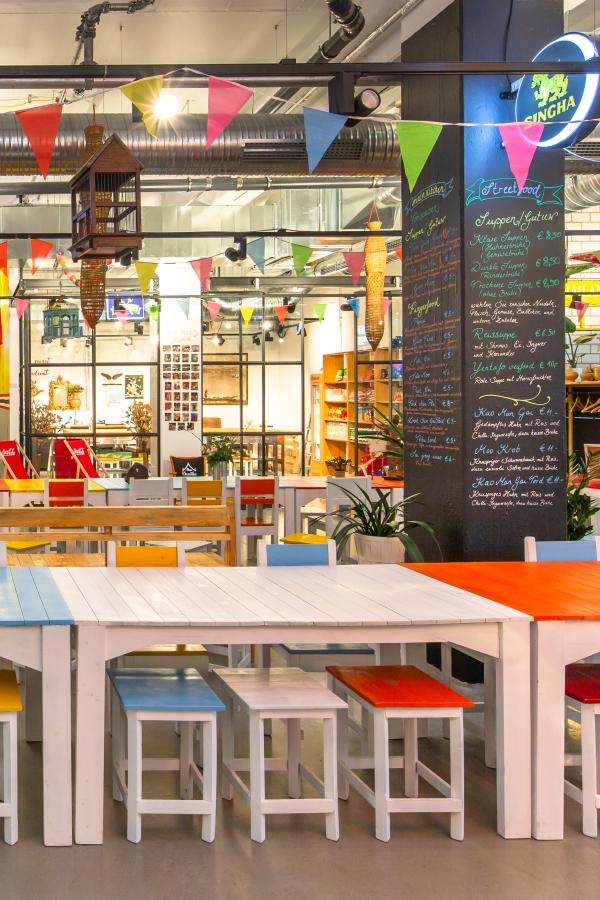 Architektenentwurf Thailändisches Streetfoodrestaurant